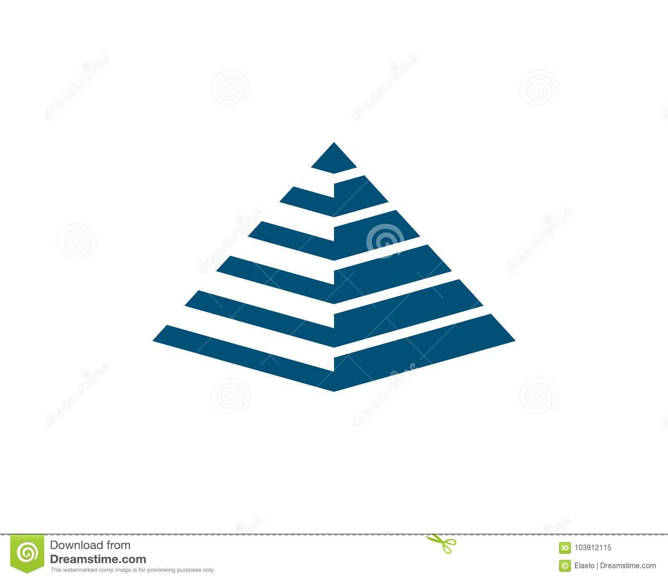 pyramid logo template stock vector illustration of card 103912115