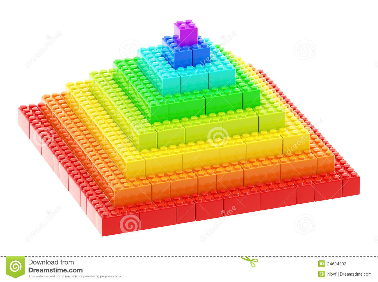 How To Build A  By In Pyramid With Blocks