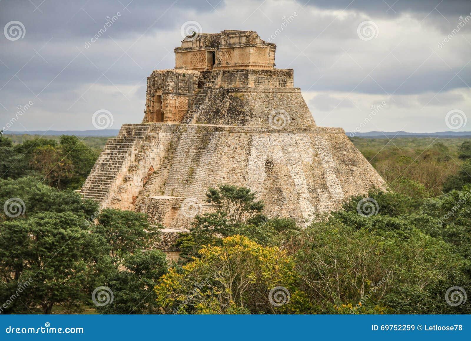 Pyramid of the Magician, Uxmal Ancient Maya city, Yucatan, Mexico