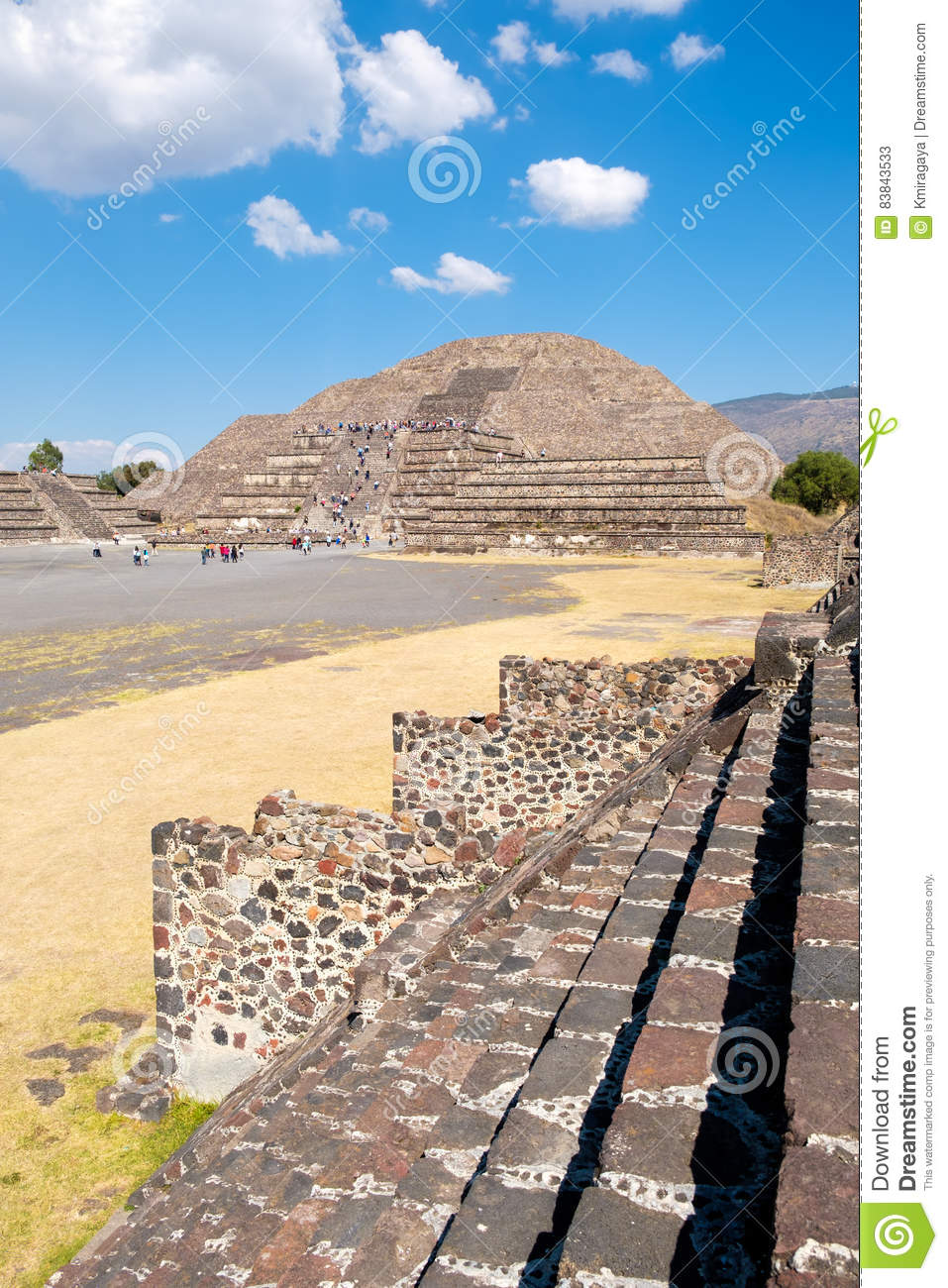 The Pyramid Of The Moon And Other Ancient Ruins At