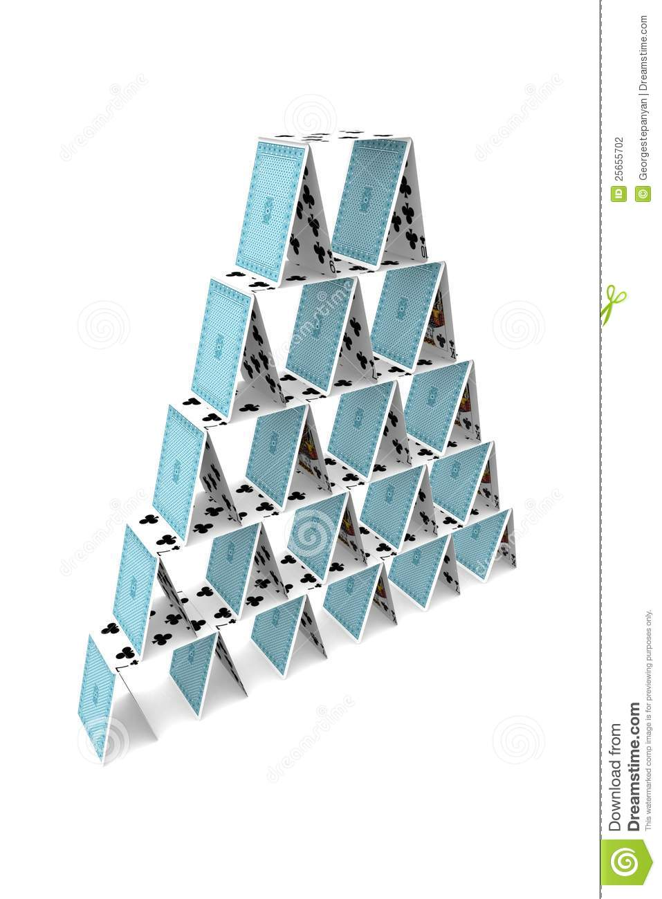 jeu de carte pyramide Pyramid of playing cards stock illustration. Illustration of