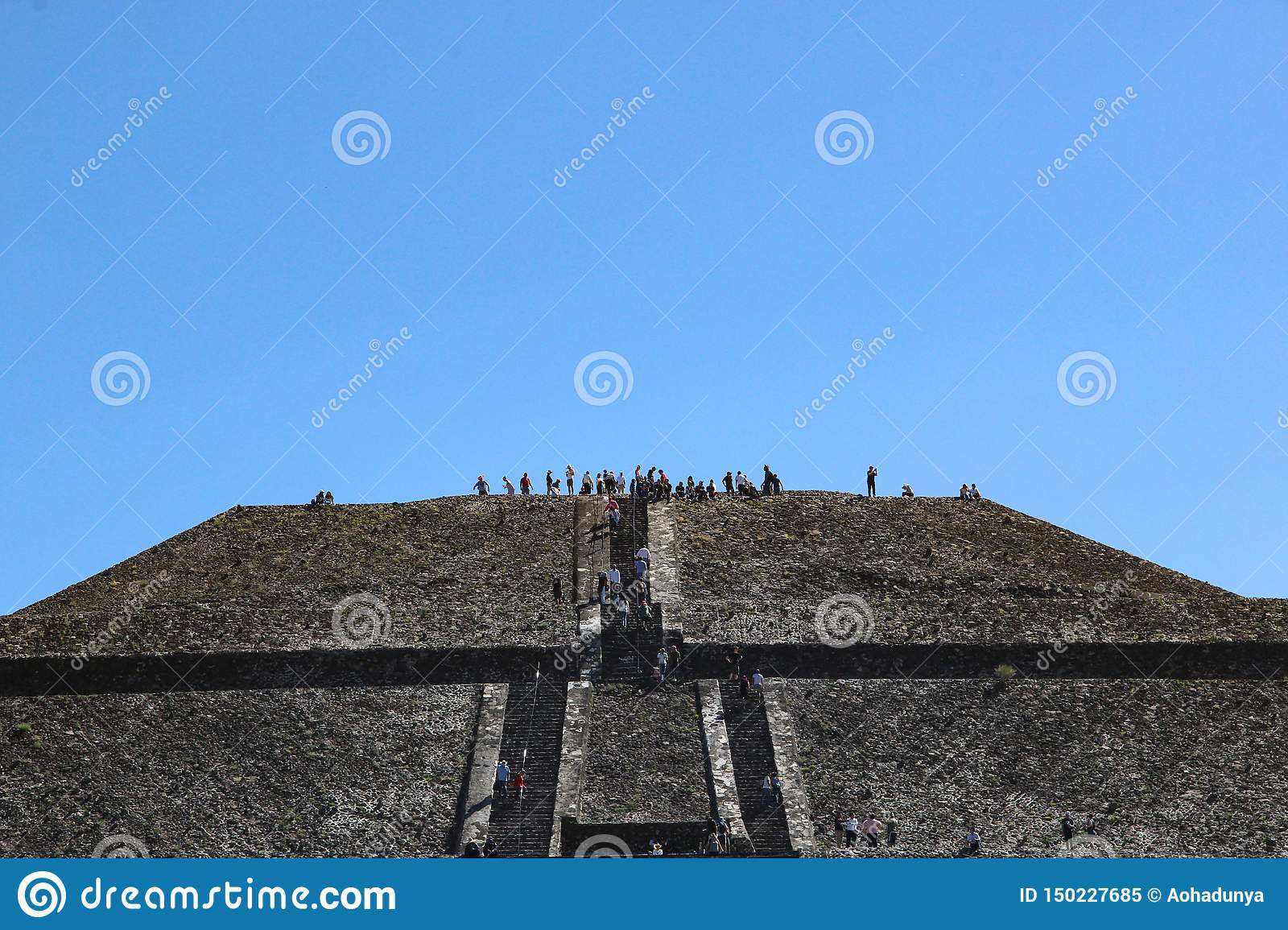 Pyramid of sun in Teotihuacan, Mexico City