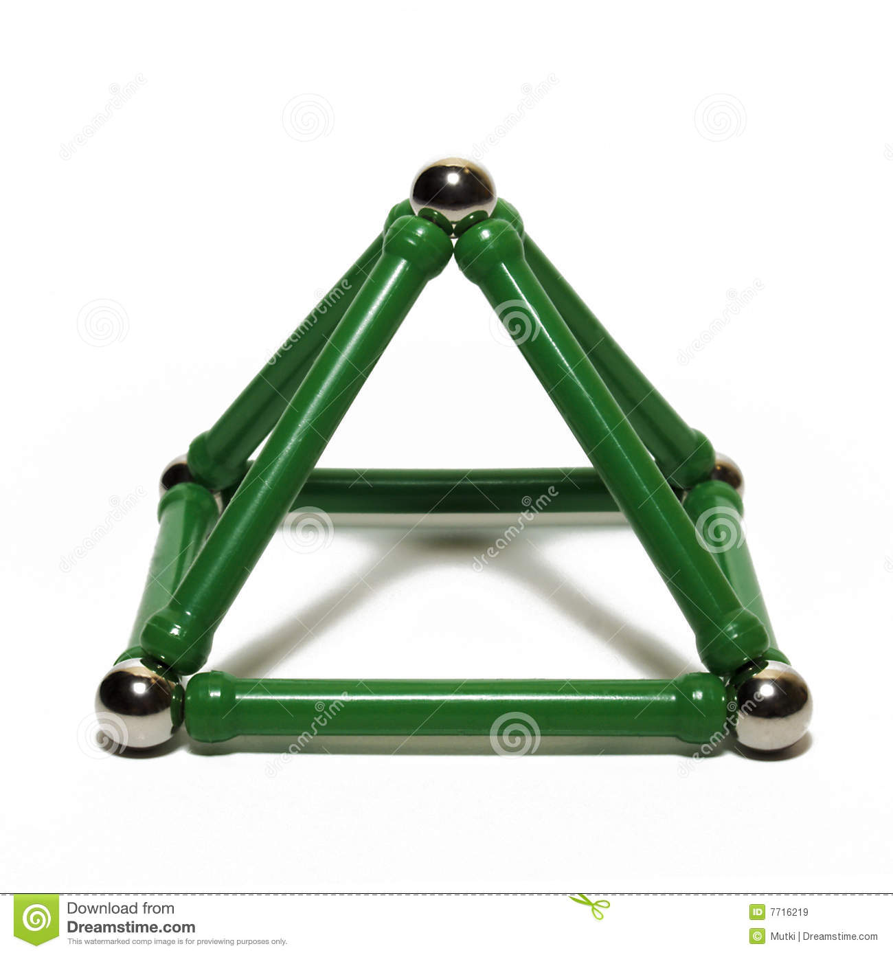 Pyramid toy on a white background