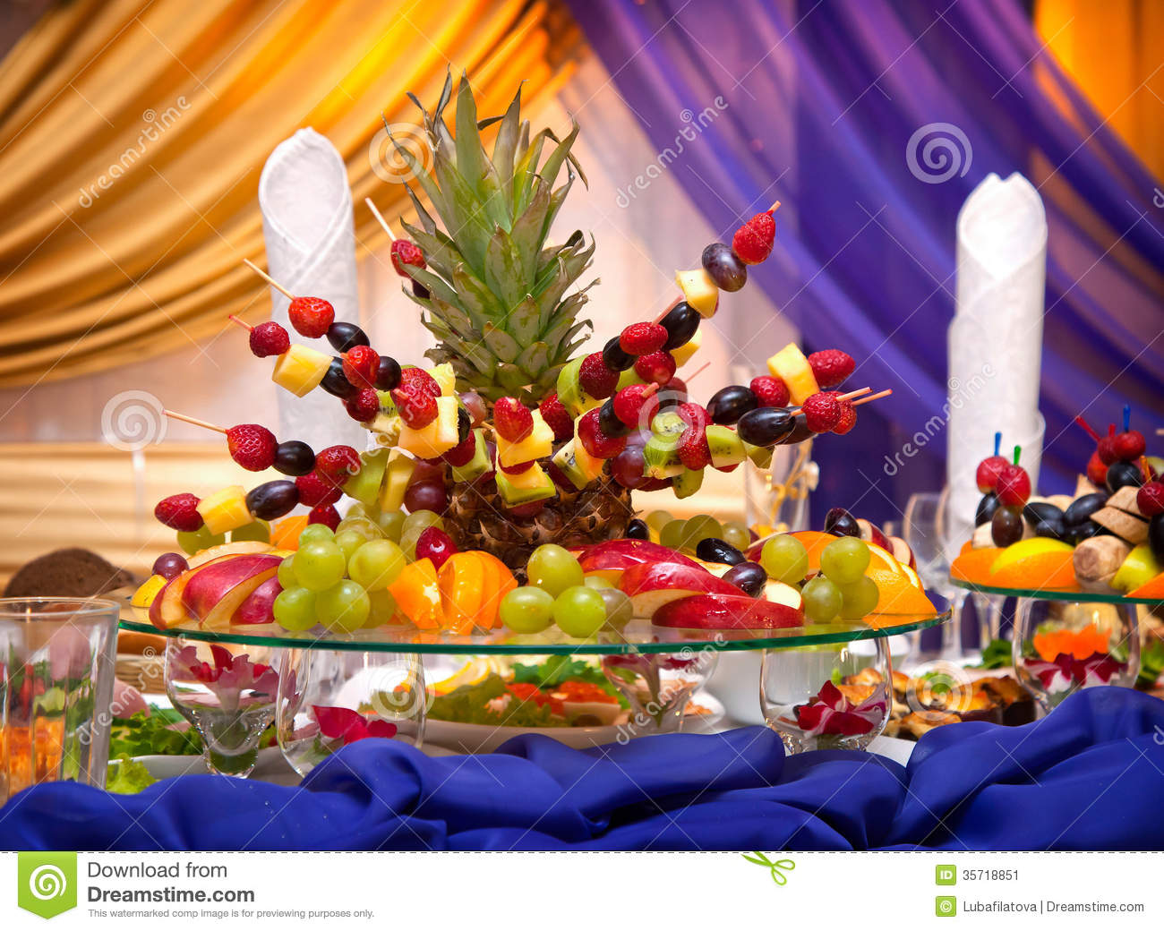 The Pyramid Of Tropical Fruits Stock Image Image 35718851