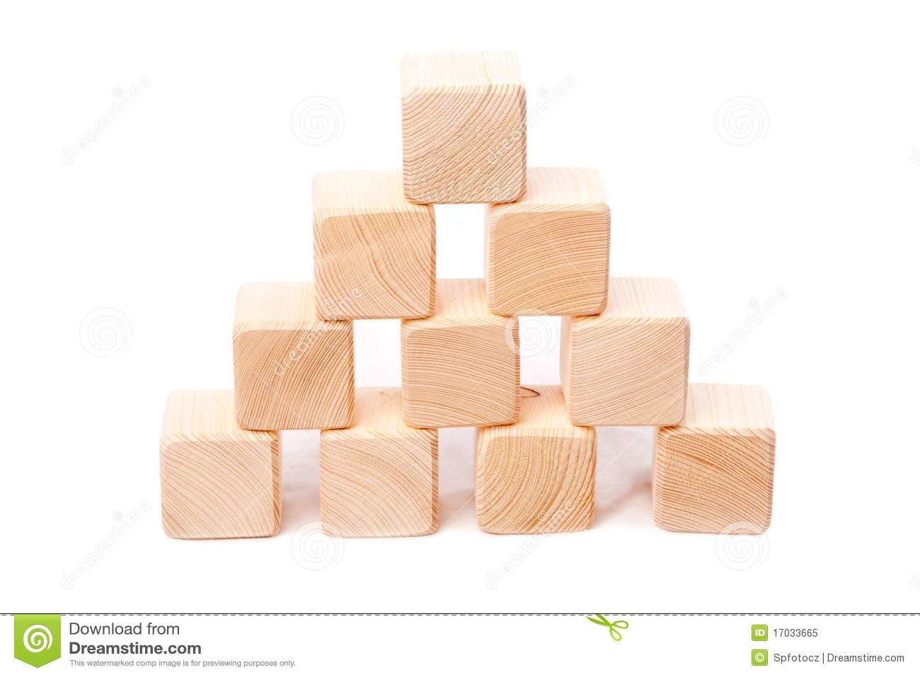 Pyramid From Wooden Cubes Royalty Free Stock Photo - Image: 17033665