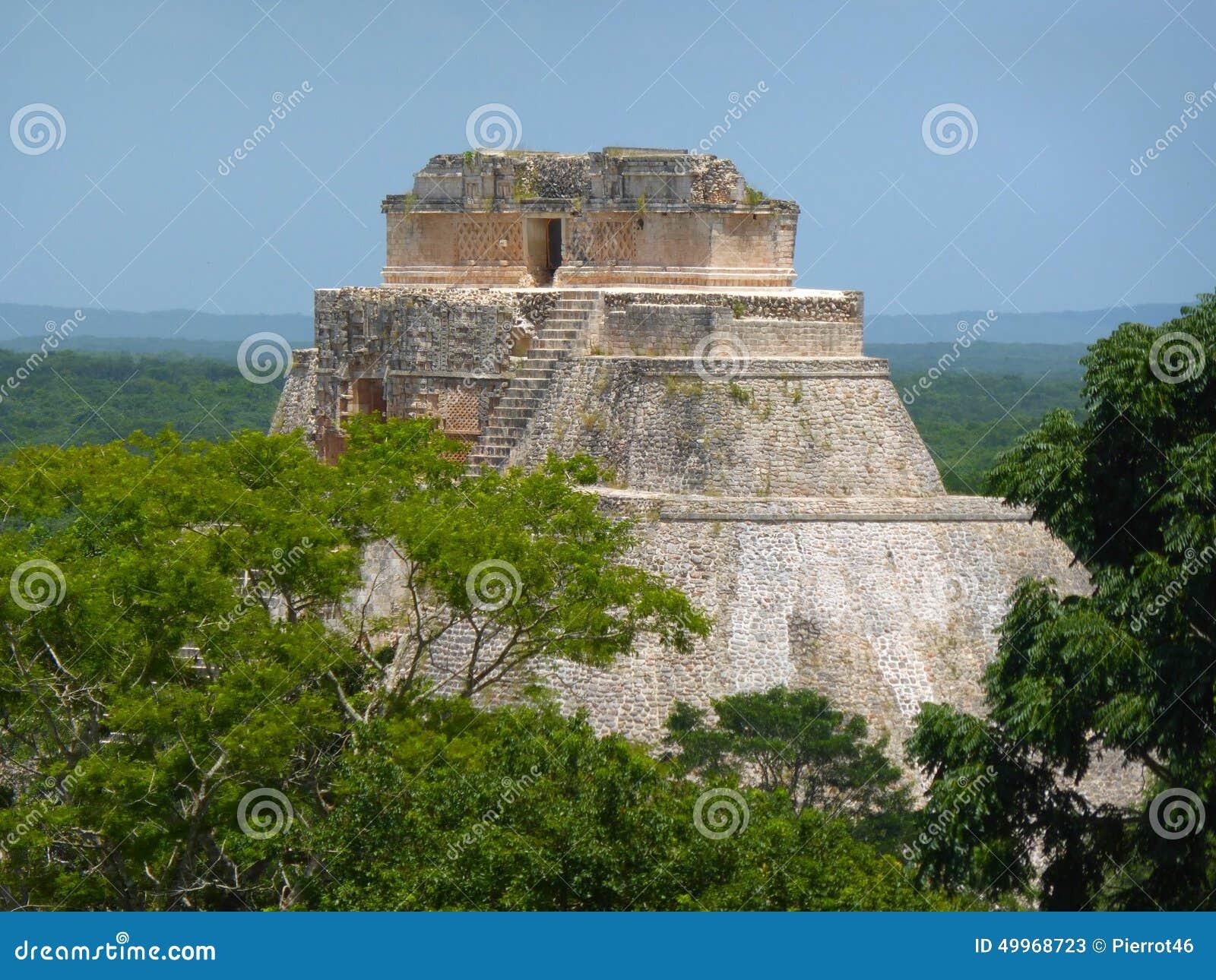 Pyramide bei Uxmal in Mexiko