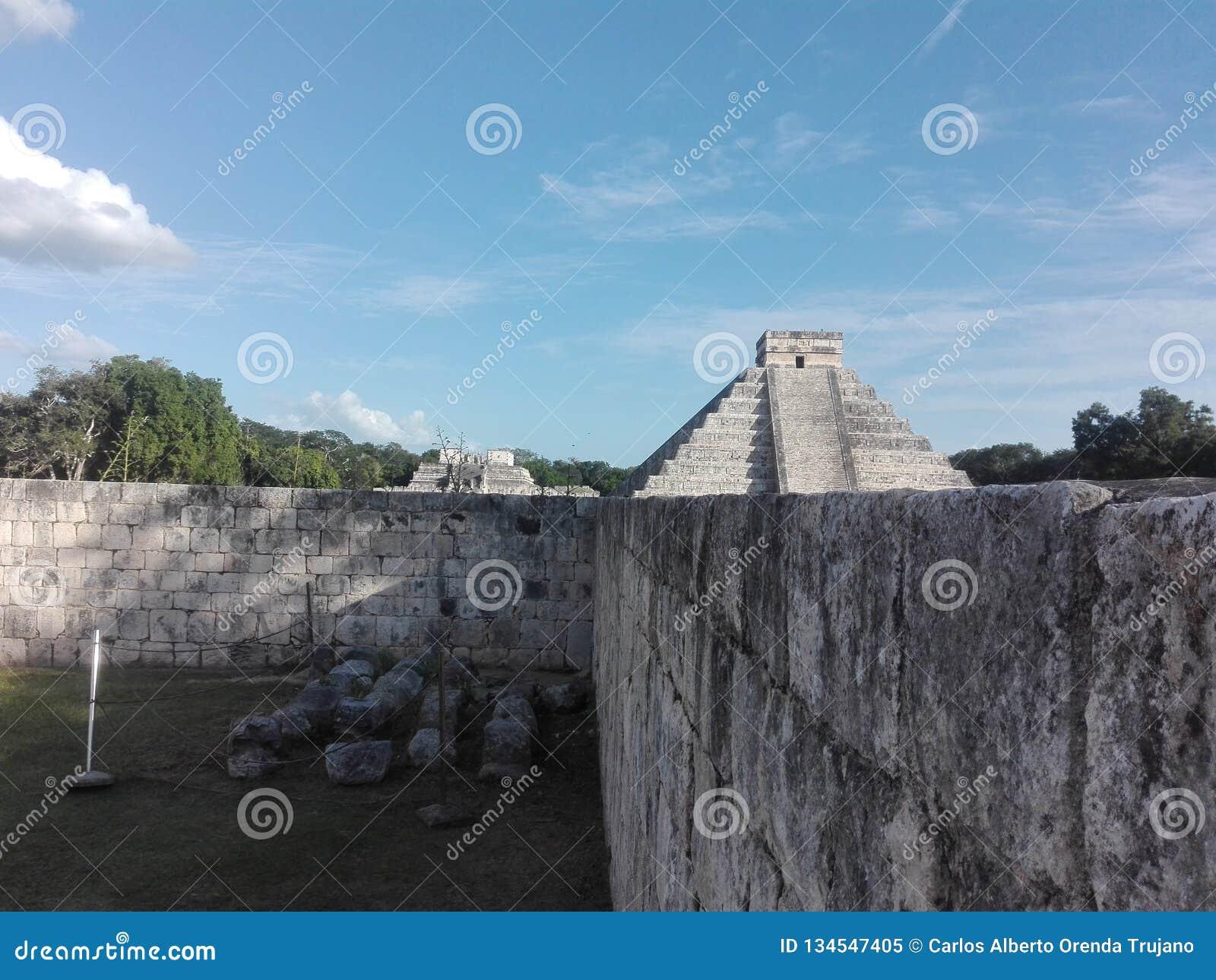 Pyramide, Chichen Itza, Mexique, Mérida, Yucatan