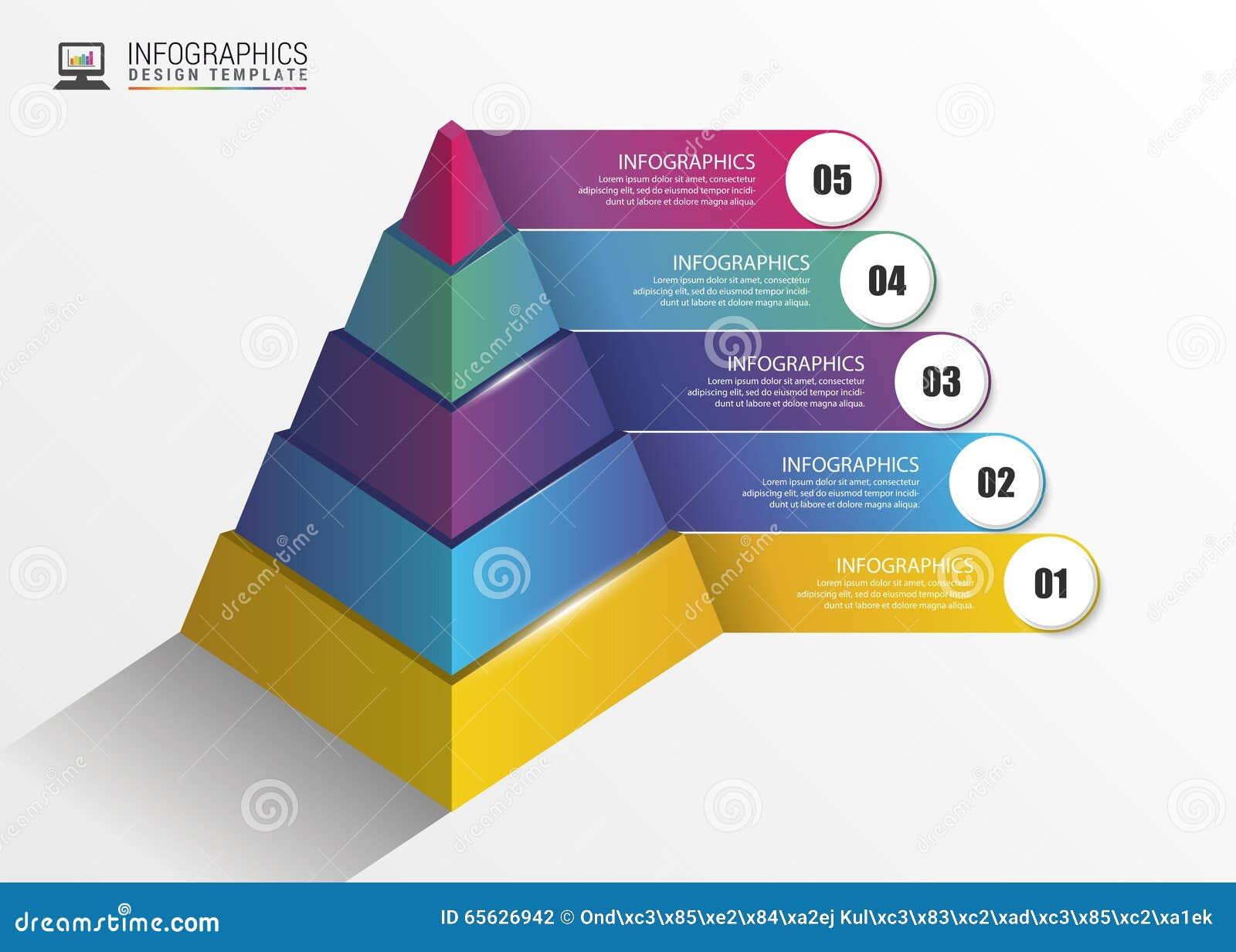 Pyramide concept infographic descripteur moderne de conception Vecteur
