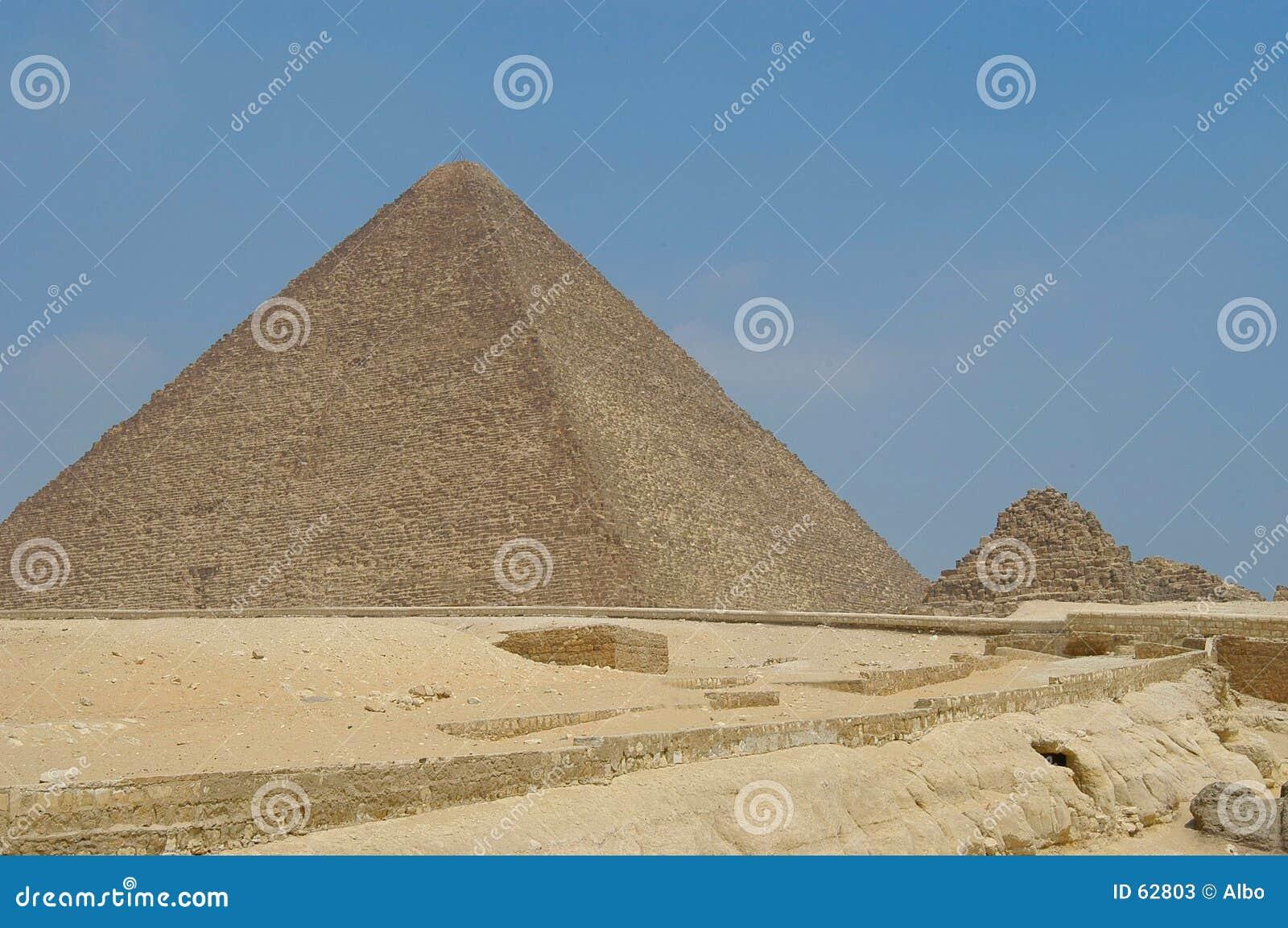 Download Pyramide de Micerino image stock. Image du grand, pierre - 62803