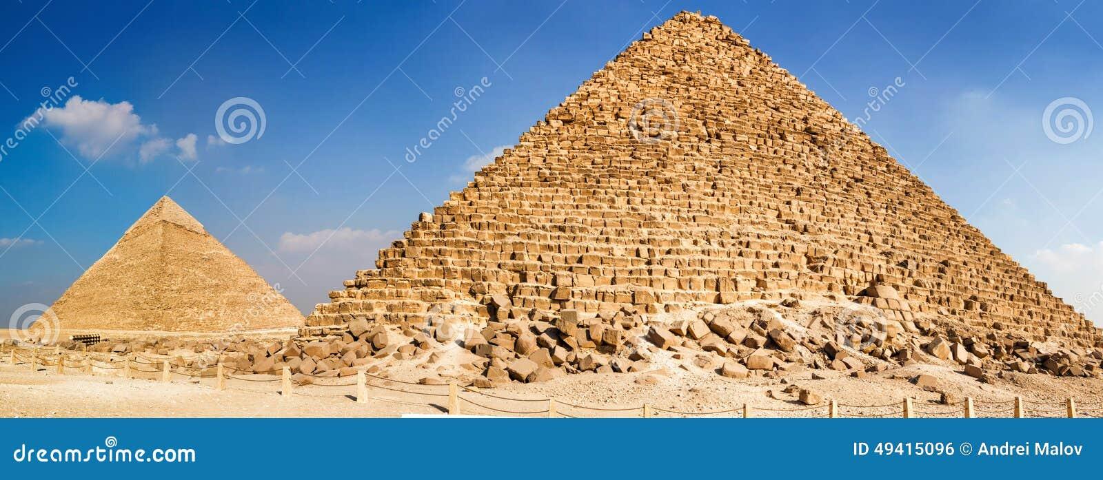 Download Pyramide Von Menkaure Und Pyramide Von Khafre Stockfoto - Bild von archäologie, ägypten: 49415096