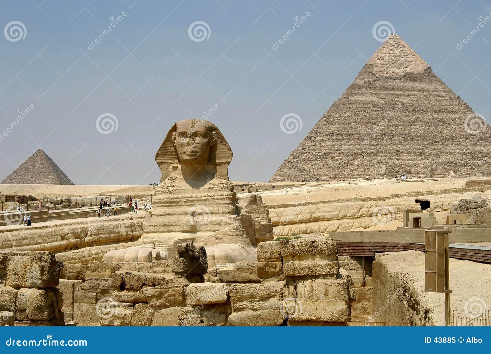 Pyramiden und Sphynx