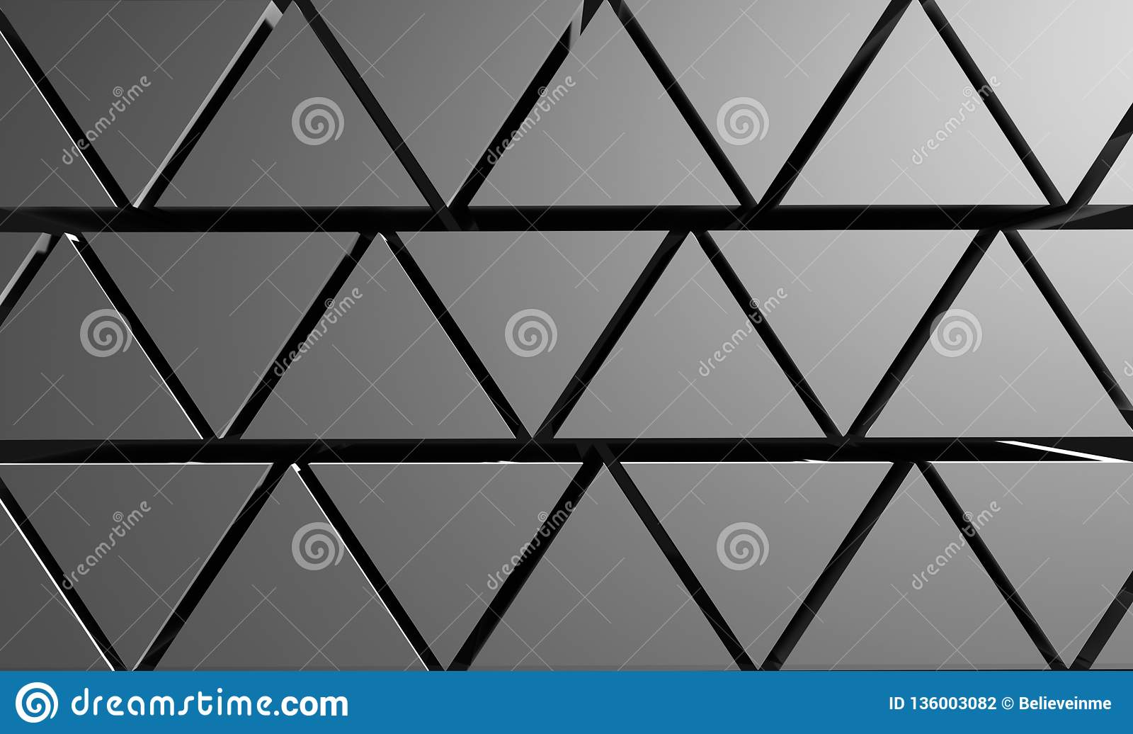 Pyramiderna gör sammandrag bakgrund från trianglar av grå färg illustration 3d