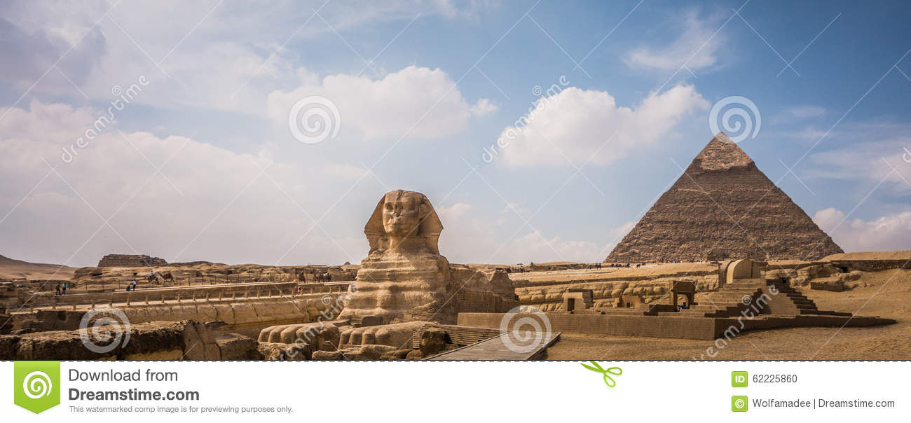 Pyramids of Giza with Sphinx, Egypt