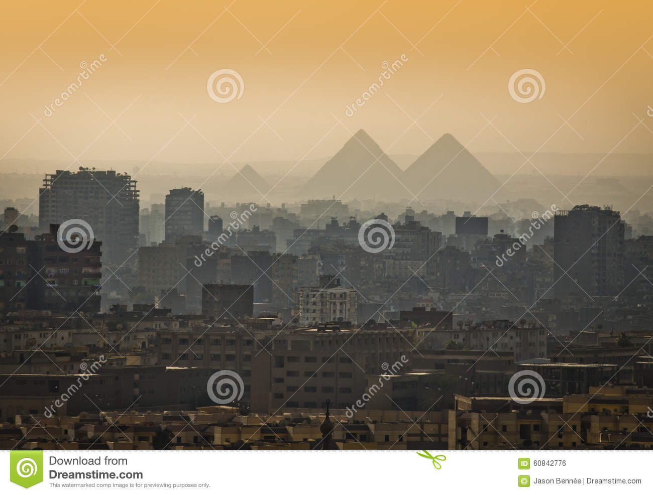 Pyramids in the mist.