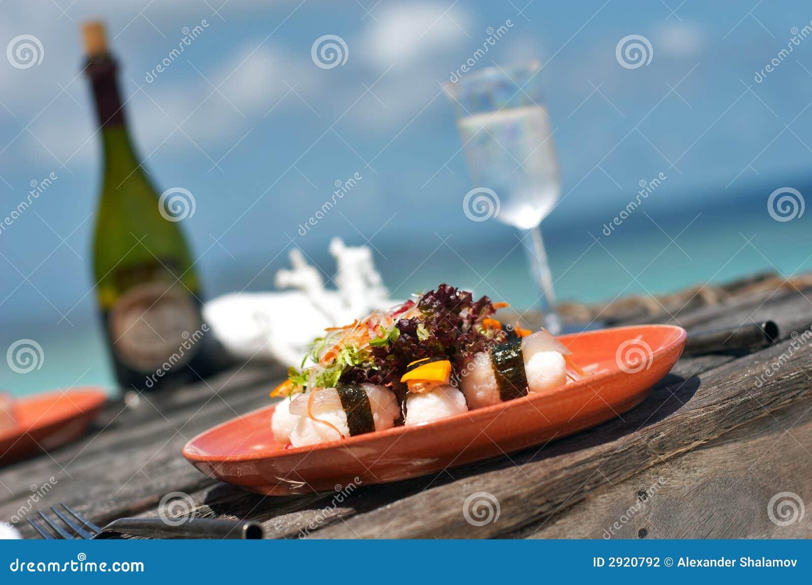 Pyszne lunchu sushi