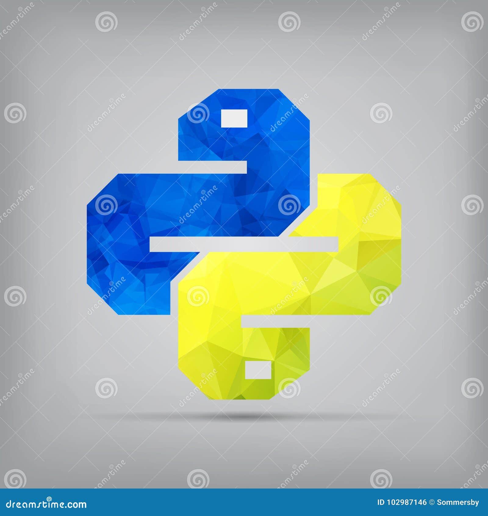 Pytonormsymbol på bakgrund Moderiktigt ormvektorsymbol f