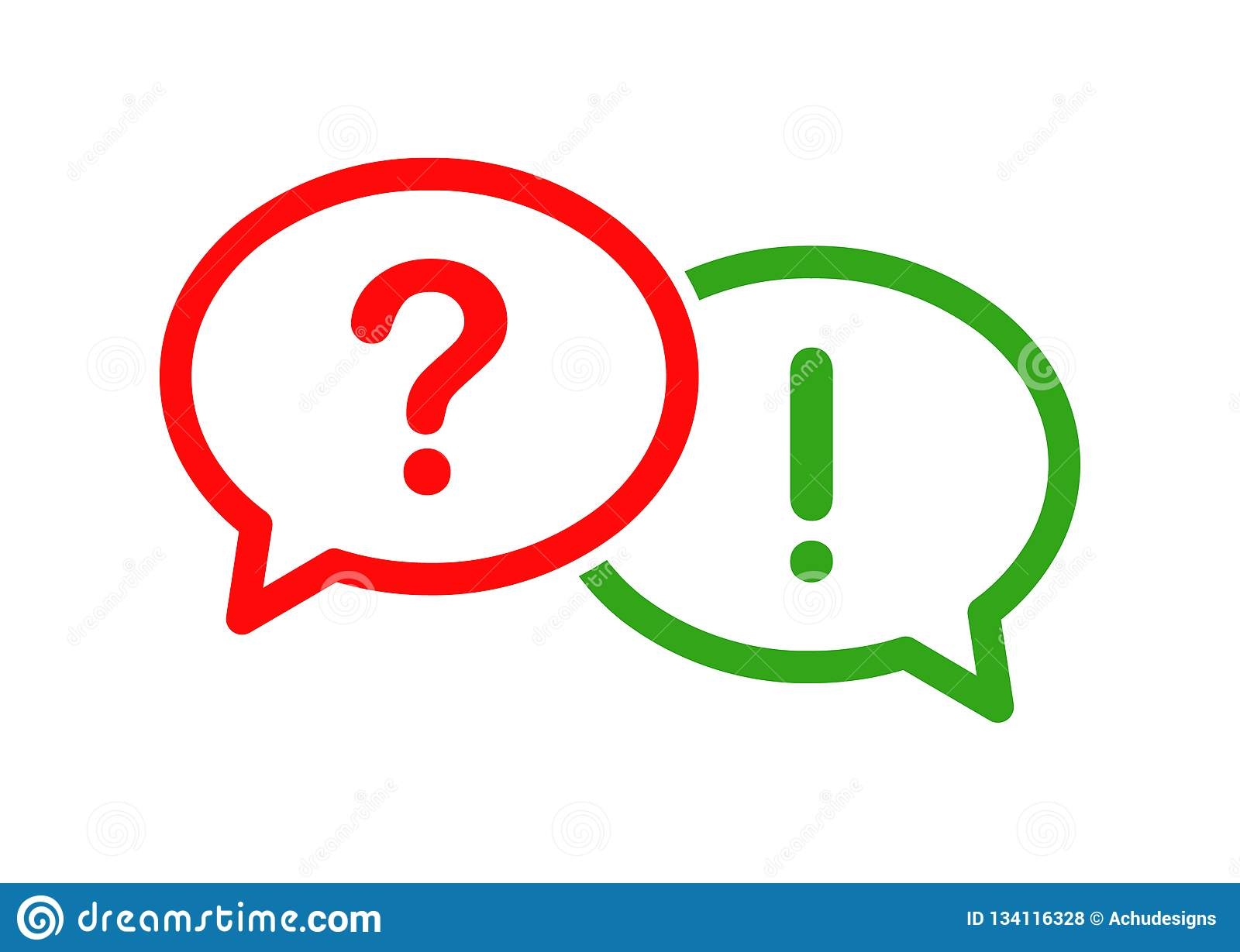 Question and answer bubble icon