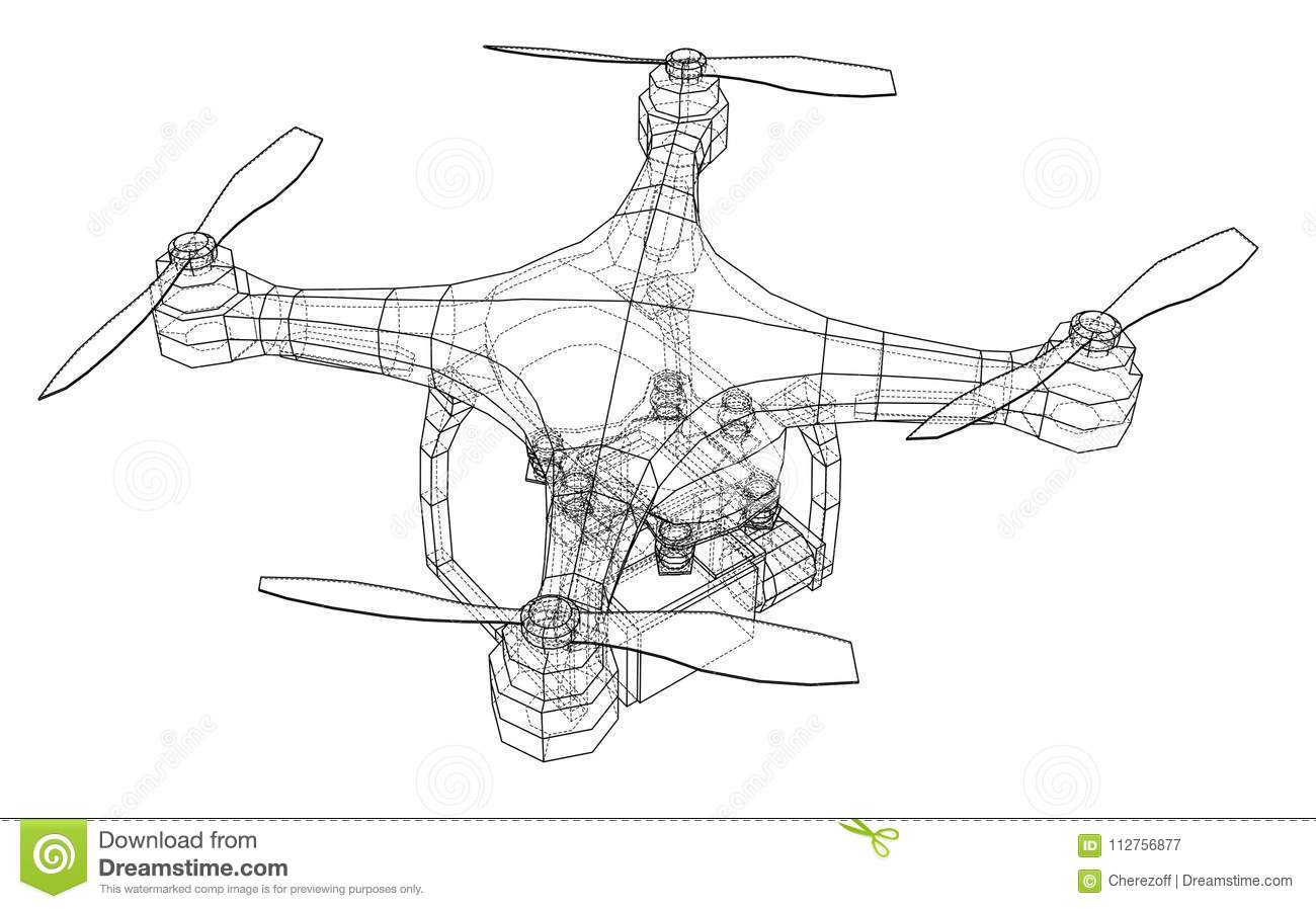 Wiring Diagram Vector Flight Controer Electrical Schematics Qadrocopter Or Drone Stock Illustration Of Control