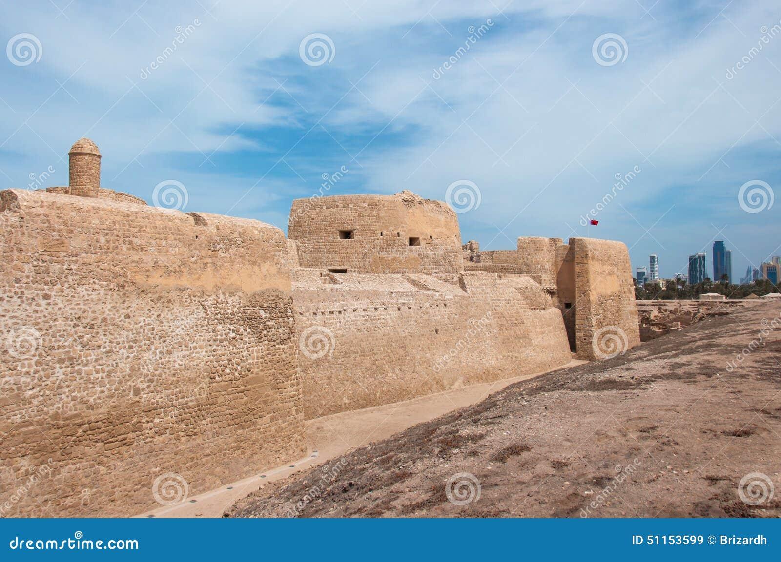 Qal'At Al Bahrain Fort, Island Of Bahrain Stock Image
