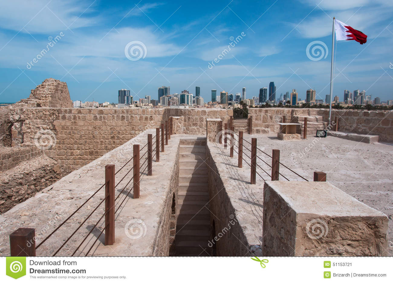Qal At Al Bahrajn fort, wyspa Bahrajn