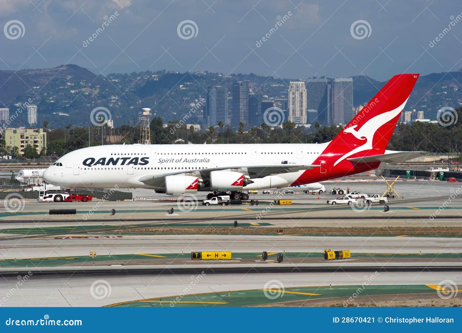 Qantas Airbus A380 editorial photo  Image of aircraft - 28670421