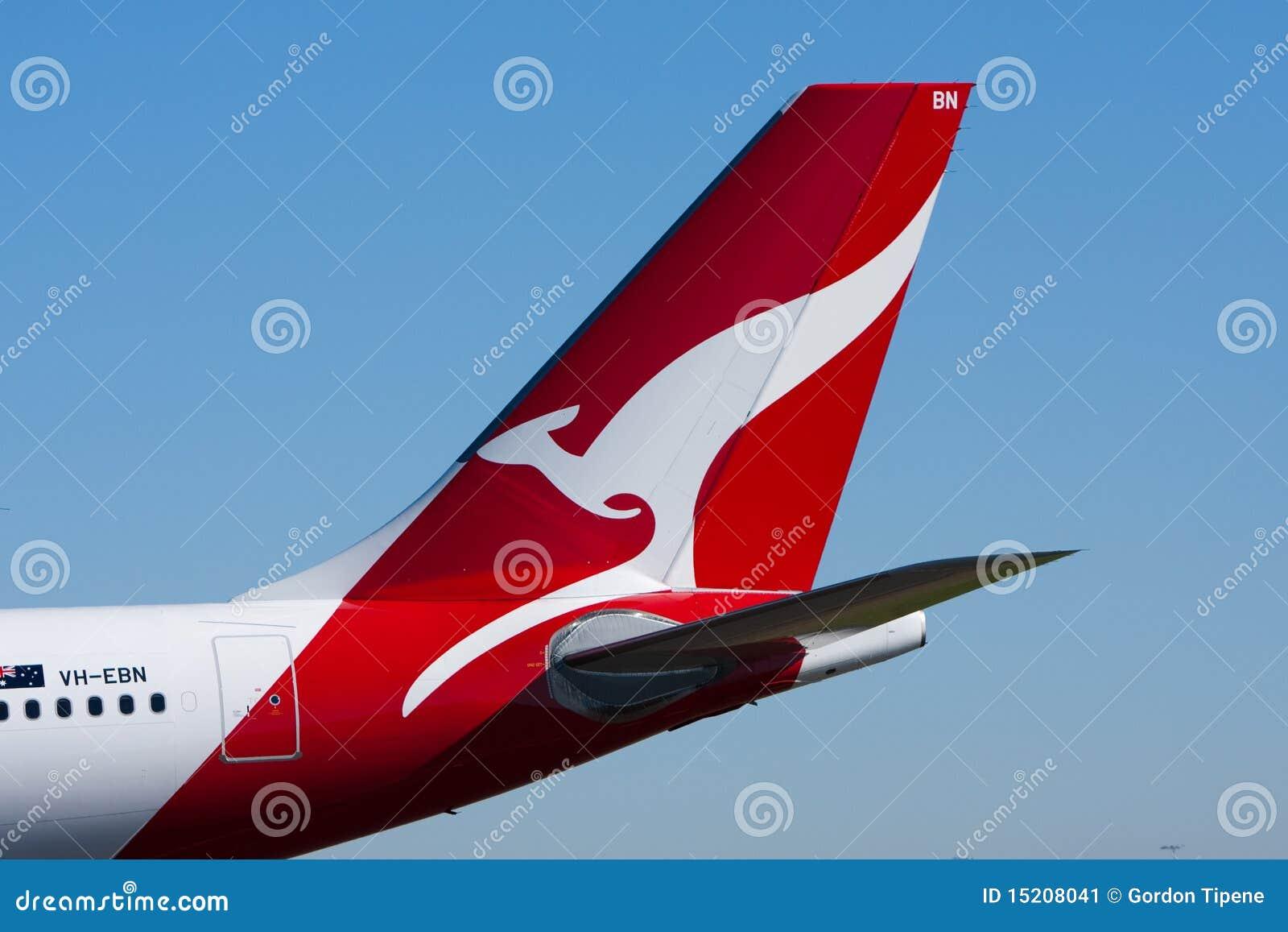 Qantas Airlines jet kangaroo logo