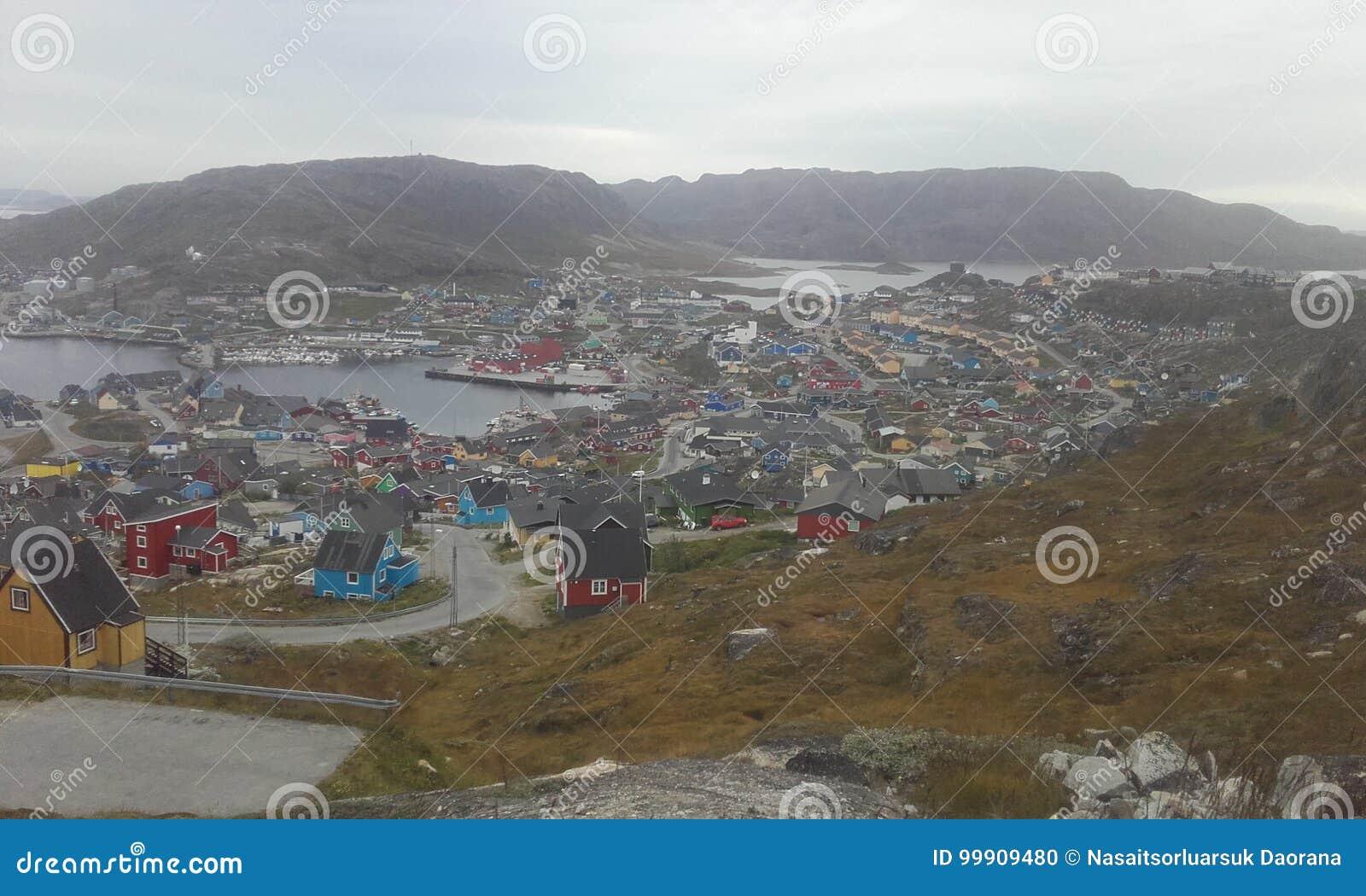 Qaqortoq de Groenlandia Groenlandia del sur Naturaleza Ciudad