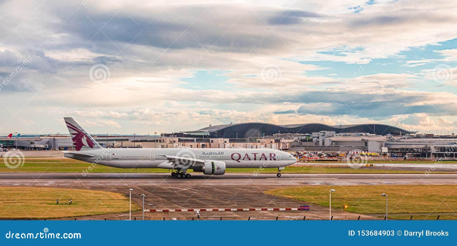 Qatar Airlines at Heathrow