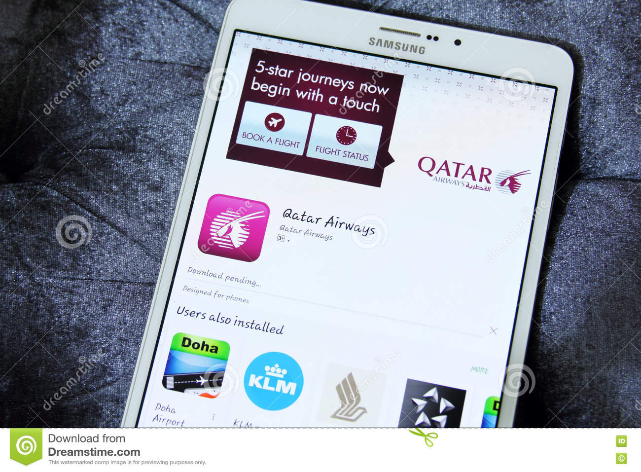 Qatar airways app editorial image  Image of applications - 74941190