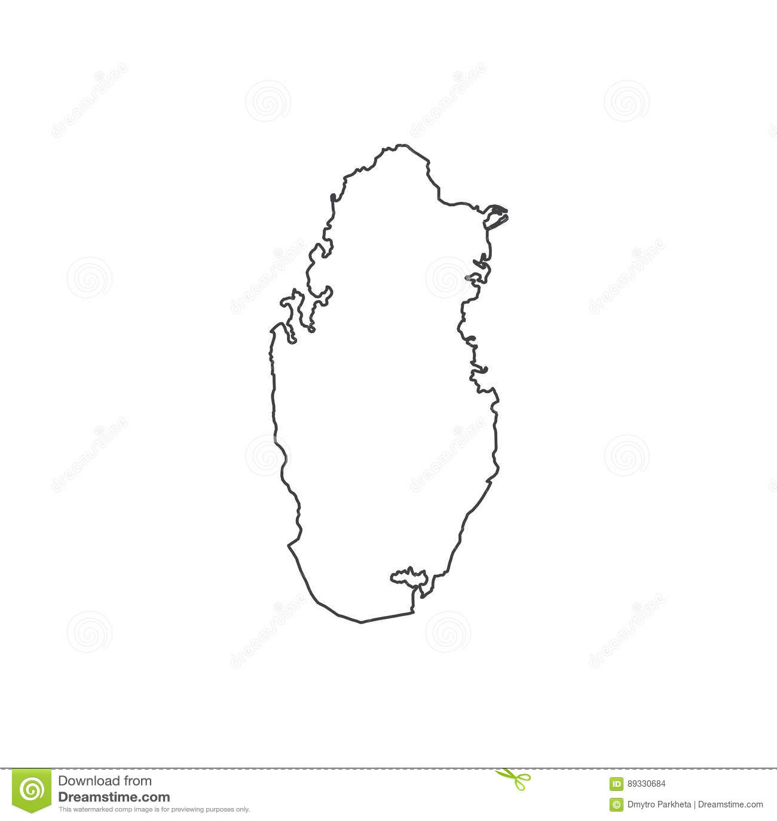 Qatar icon map silhouette stock vector. Illustration of ...
