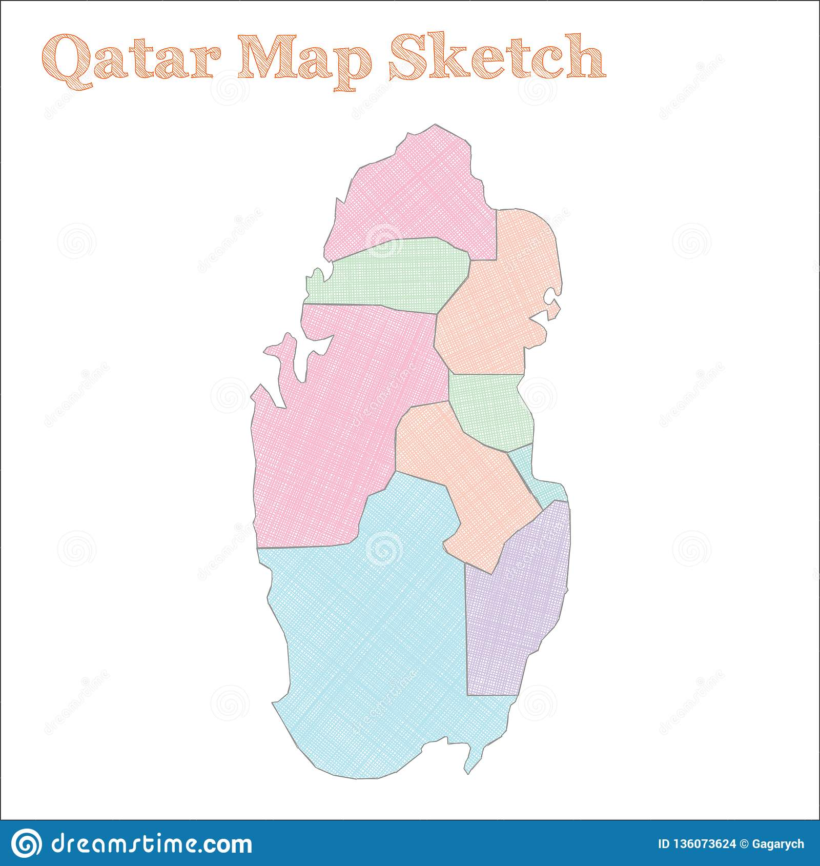 Qatar map. stock vector. Illustration of geography, patriot ...