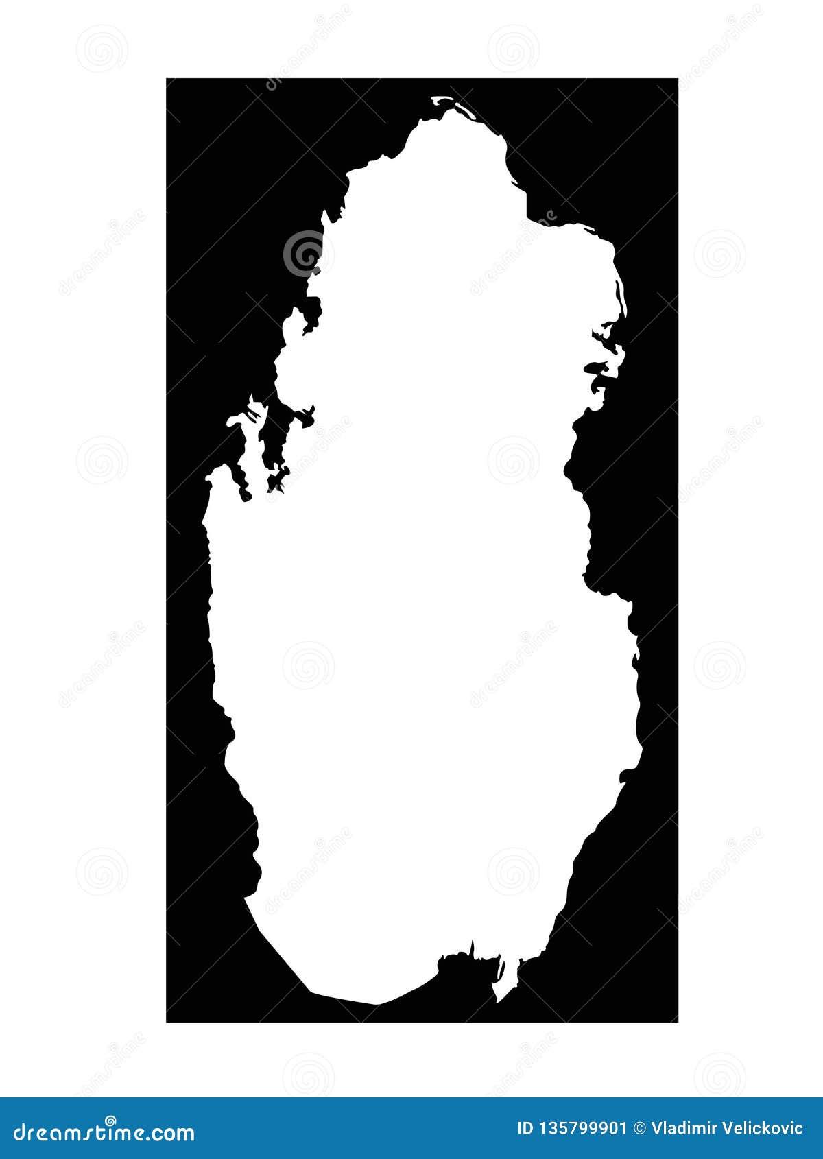 Qatar map - State of Qatar stock vector. Illustration of ...