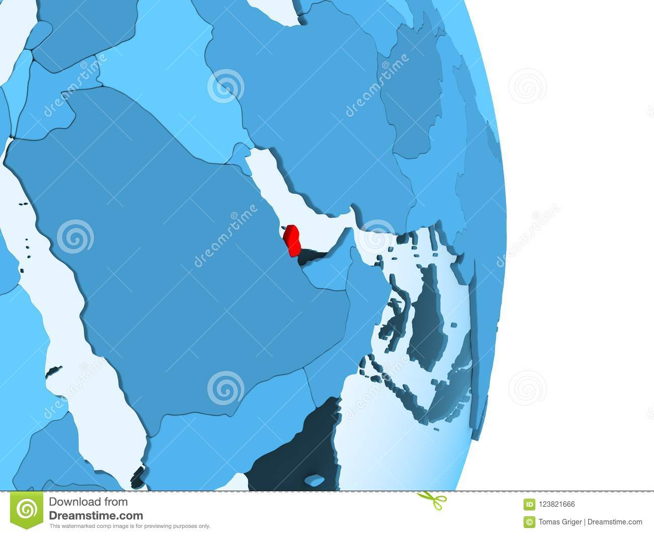 Map of Qatar in red stock illustration. Illustration of qatar ... Qatar Country World Map on