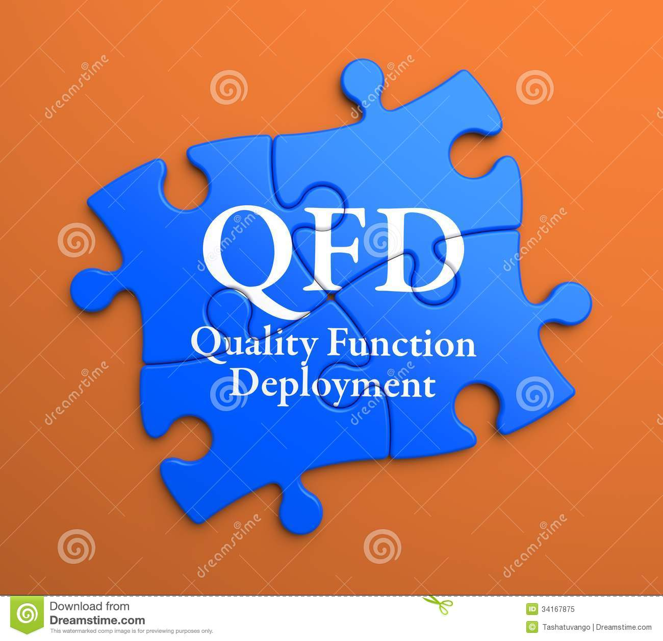 QFD On Blue Puzzle Pieces. Business Concept. Royalty Free Stock Photo ...