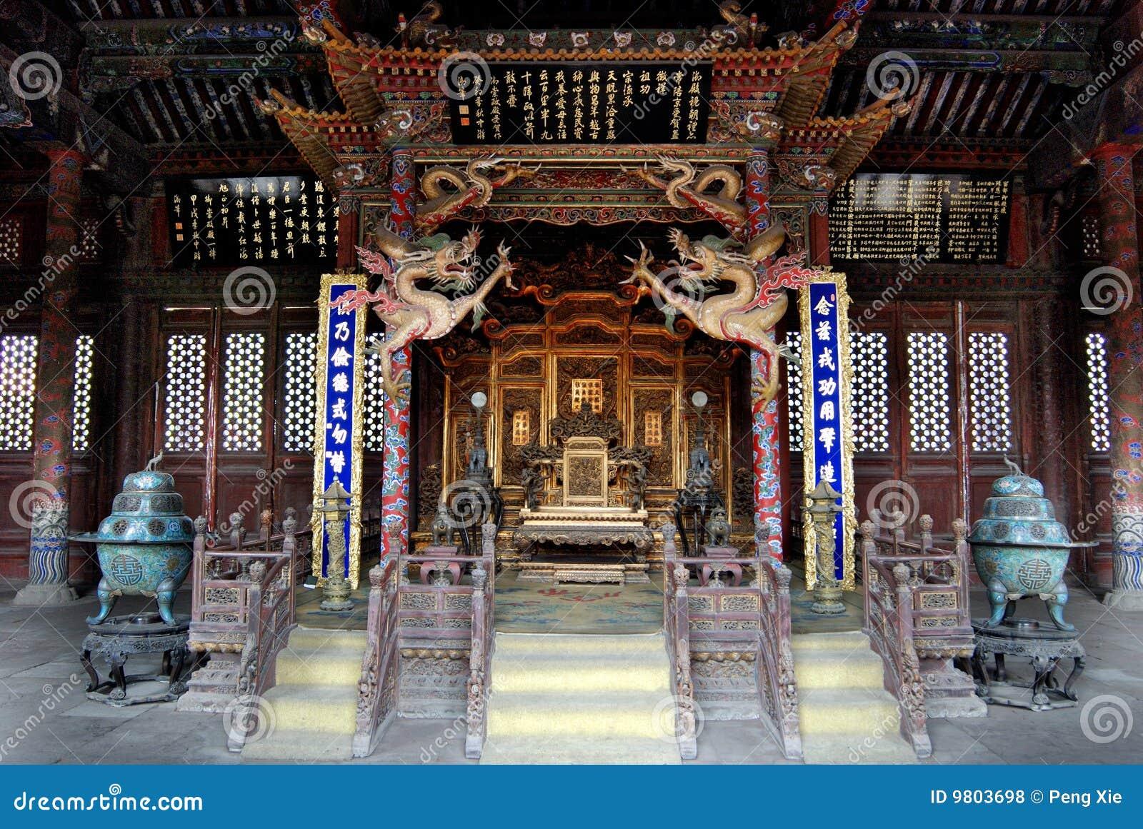 Qing Dynasty Palace Chongzheng Palace Inside Royalty Free