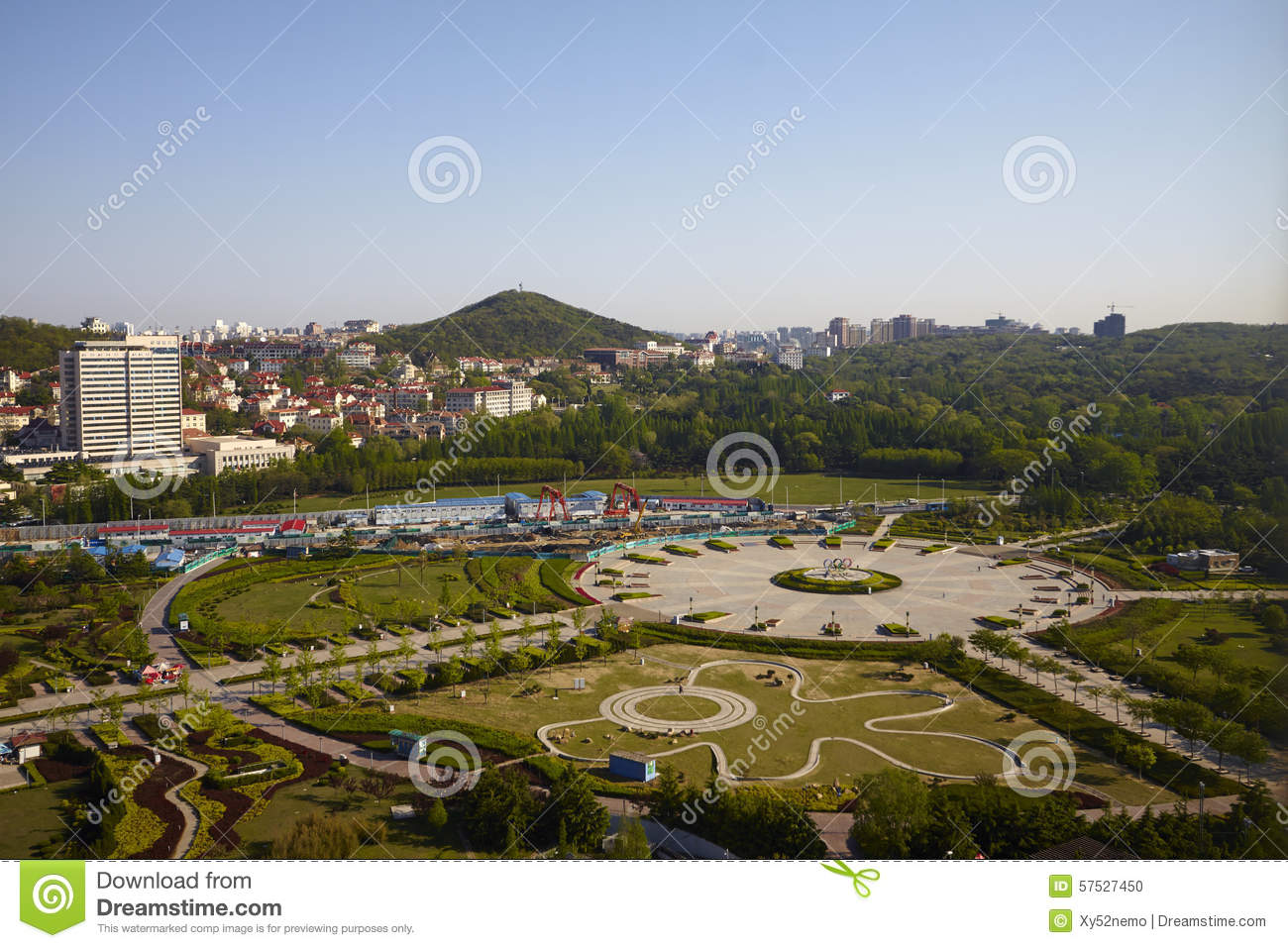 Qingdao Olympic park editorial image. Image of panoramic - 57527450