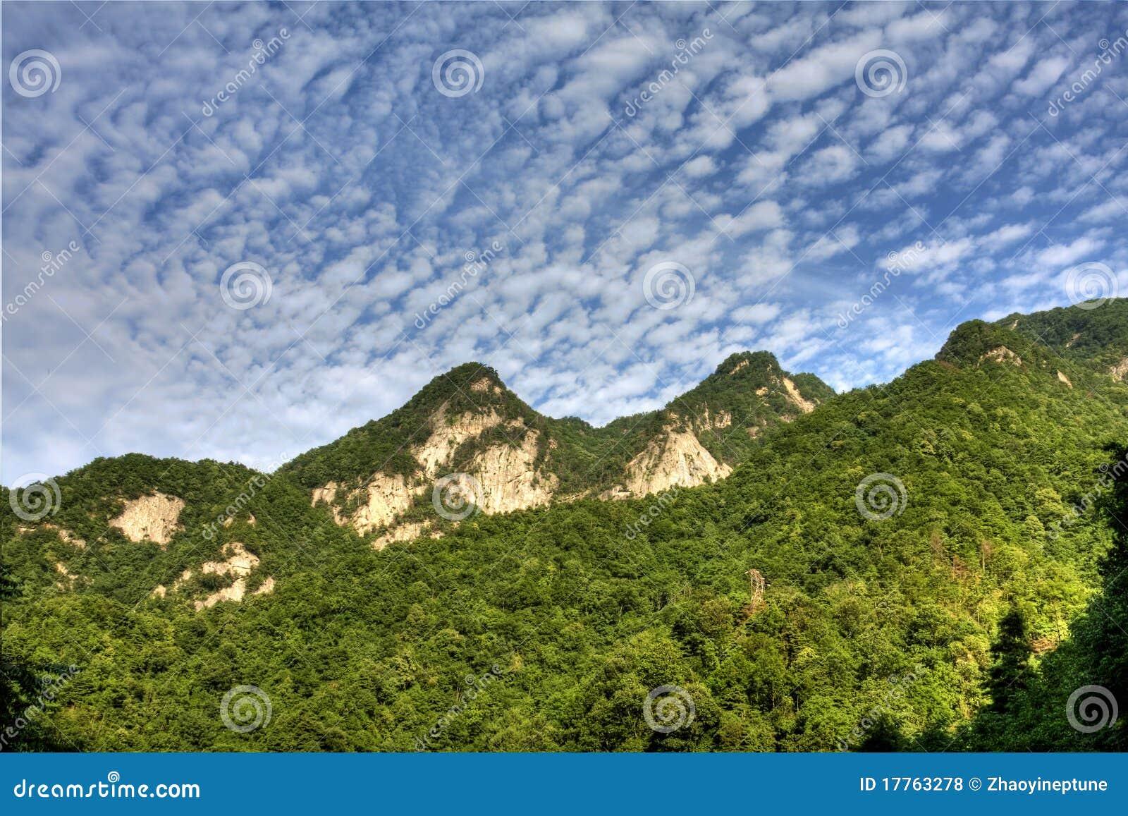 Qin Mountains Qinling Mountain stock...