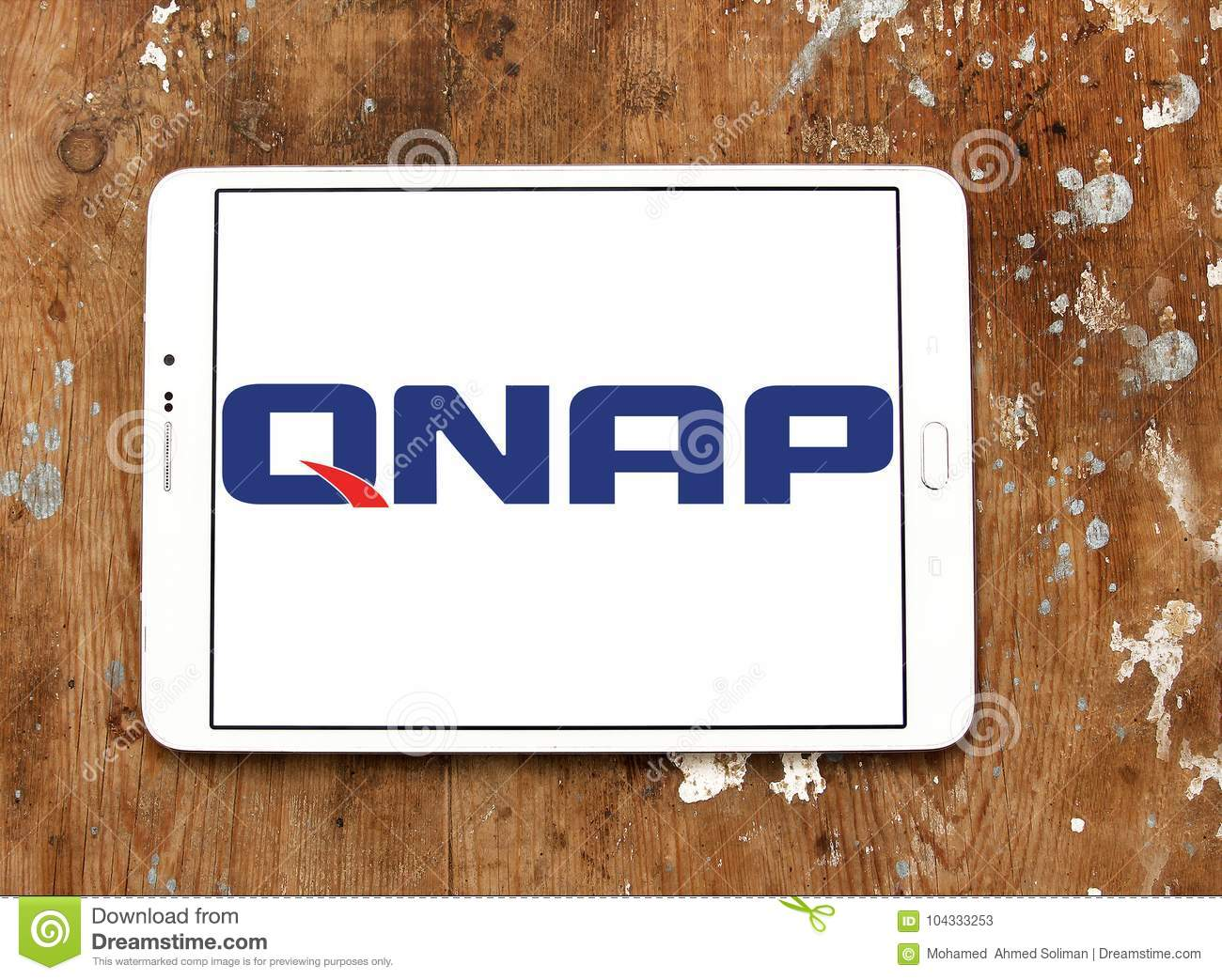 QNAP Systems company logo editorial stock photo  Image of