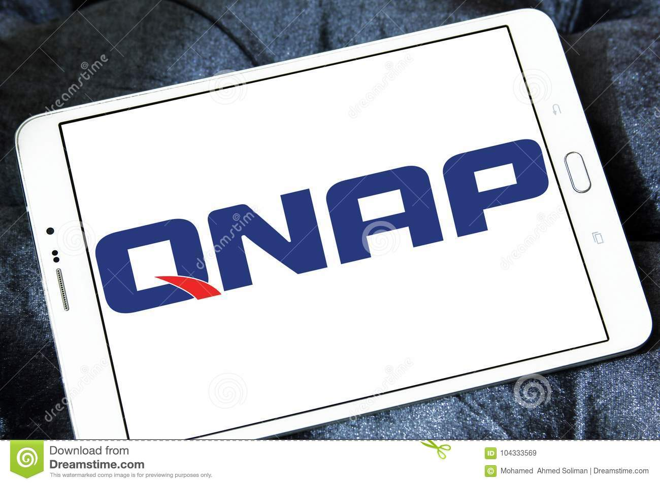QNAP Systems company logo editorial stock image  Image of networked