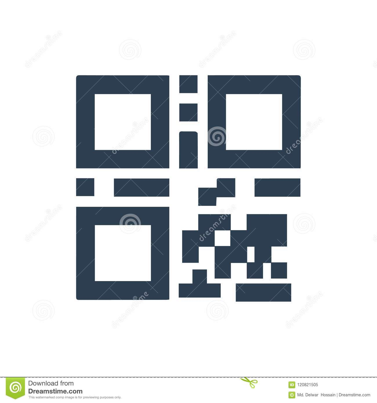 QR Code Icon stock vector  Illustration of sign, qrcode - 120821505