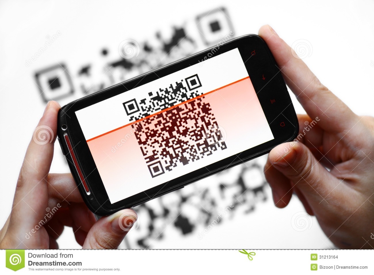 QR Code Mobile Scanner Stock Photo Image Of Picture