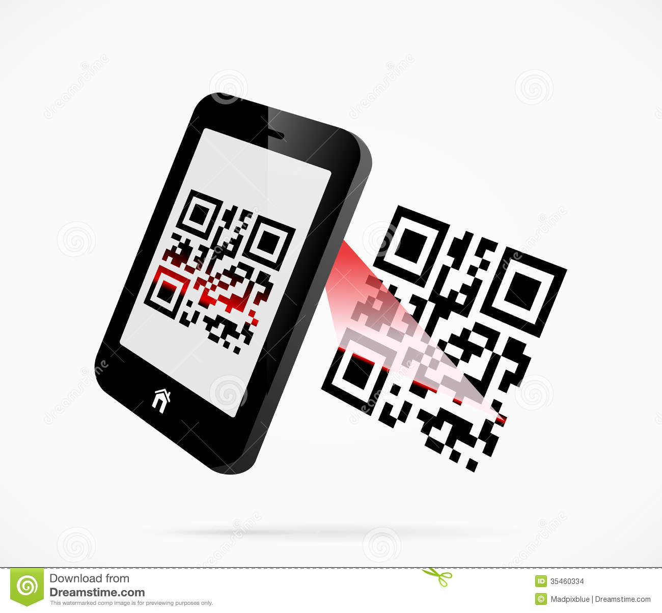 QR-code scan stock vector  Illustration of recognize - 35460334
