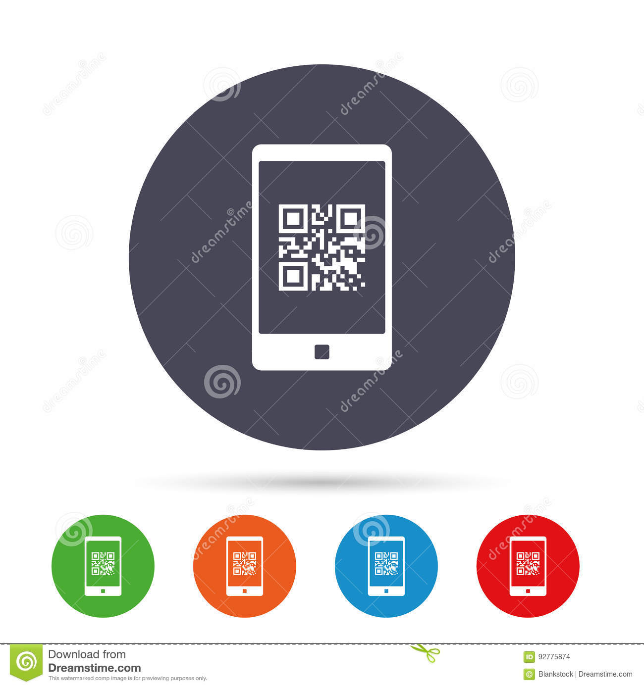 Qr Code Sign Icon Scan Code Symbol Stock Vector Illustration Of