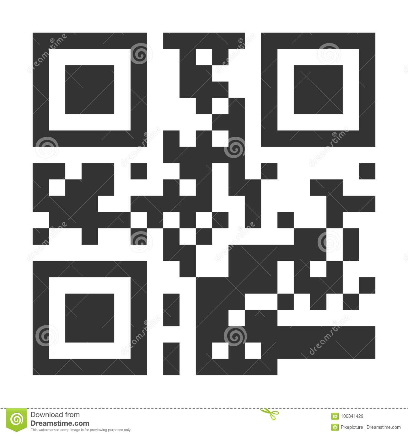 QR Code Vector  Hidden Text Or Url  Scanning Smartphone