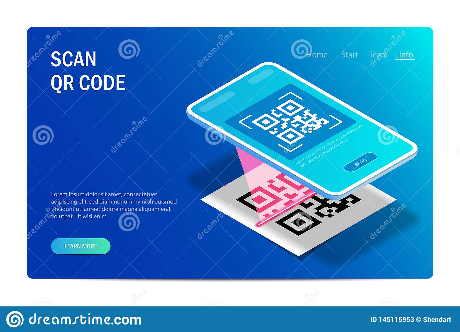 Barcode Verification qr verification concept. mobile phone with a scanner reads