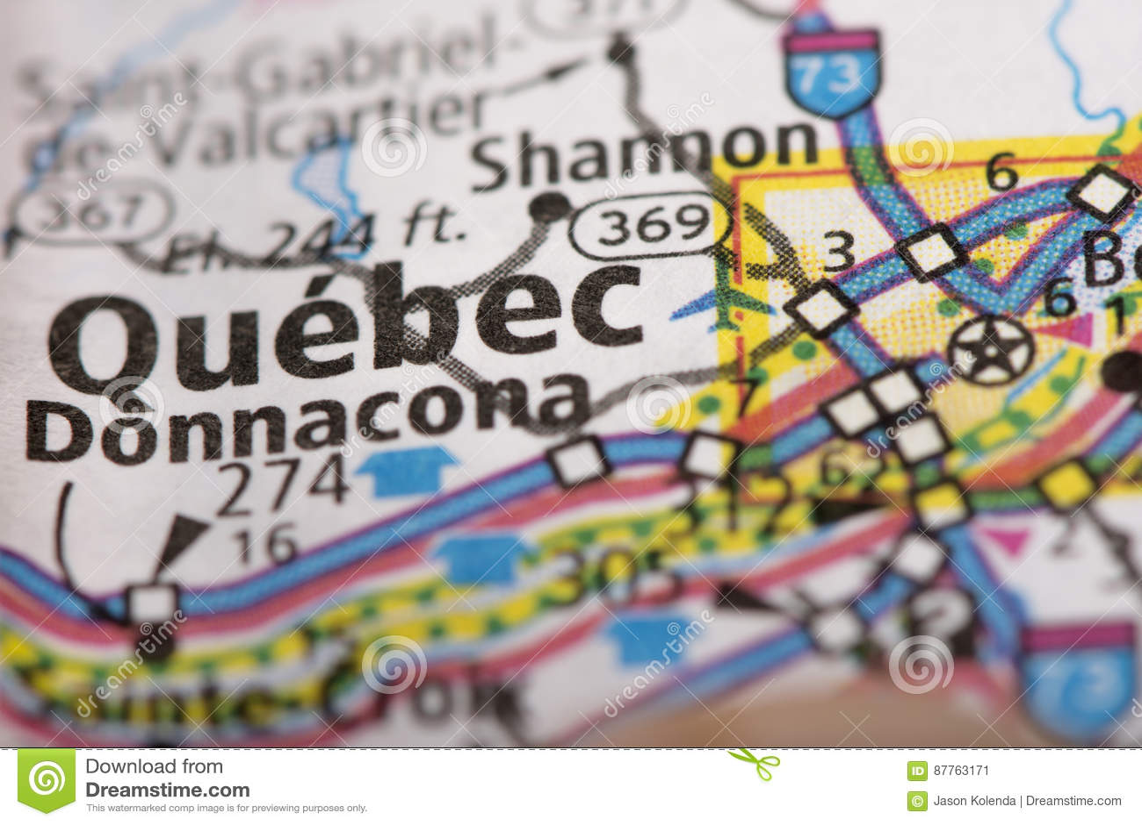 Quebec Karte.Québec Stadt Auf Karte Stockbild Bild Von Welt Papier 87763171