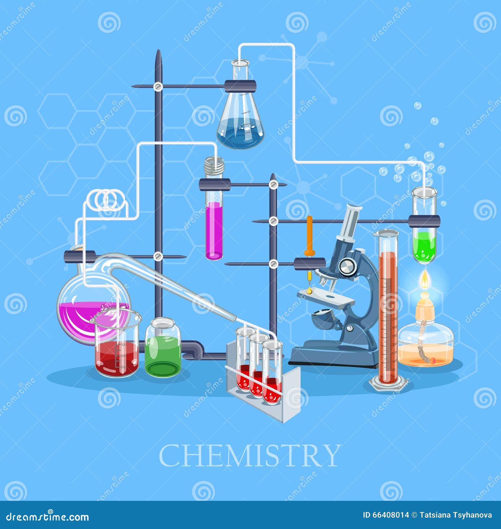 Química Y Ciencia Infographic Fondo De Los Iconos De La Química ...