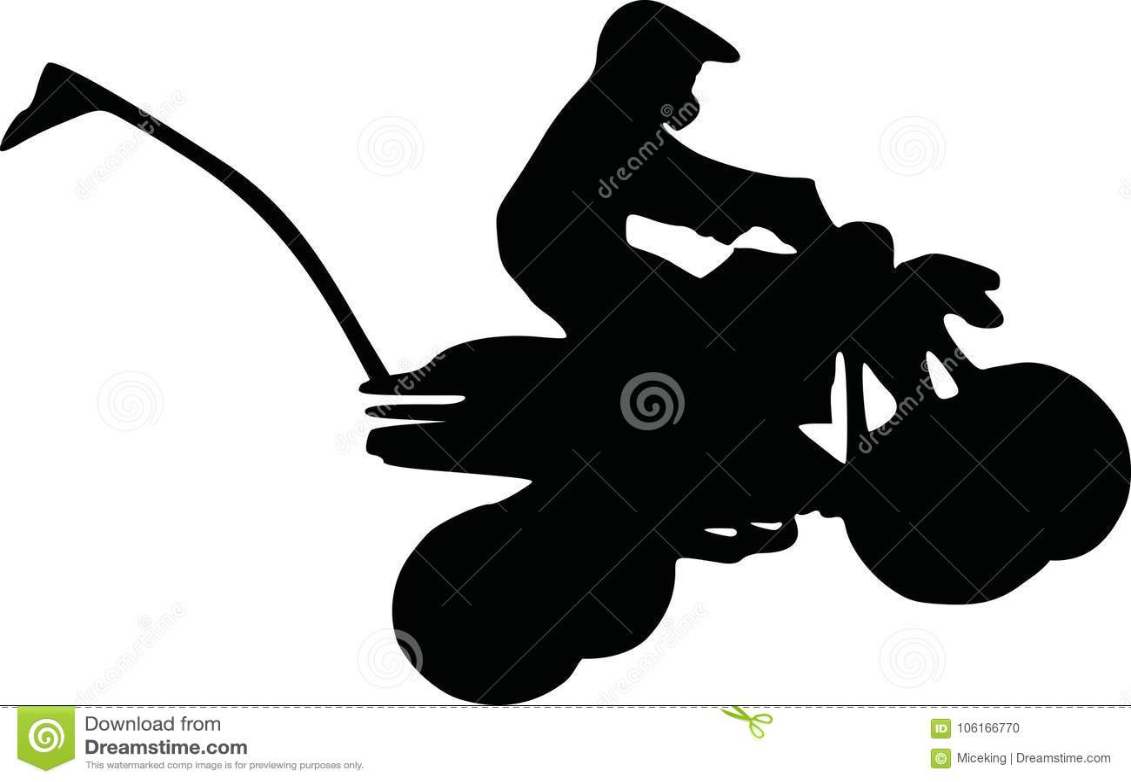 Quad Atv Driver Stock Vector Illustration Of Extreme 106166770