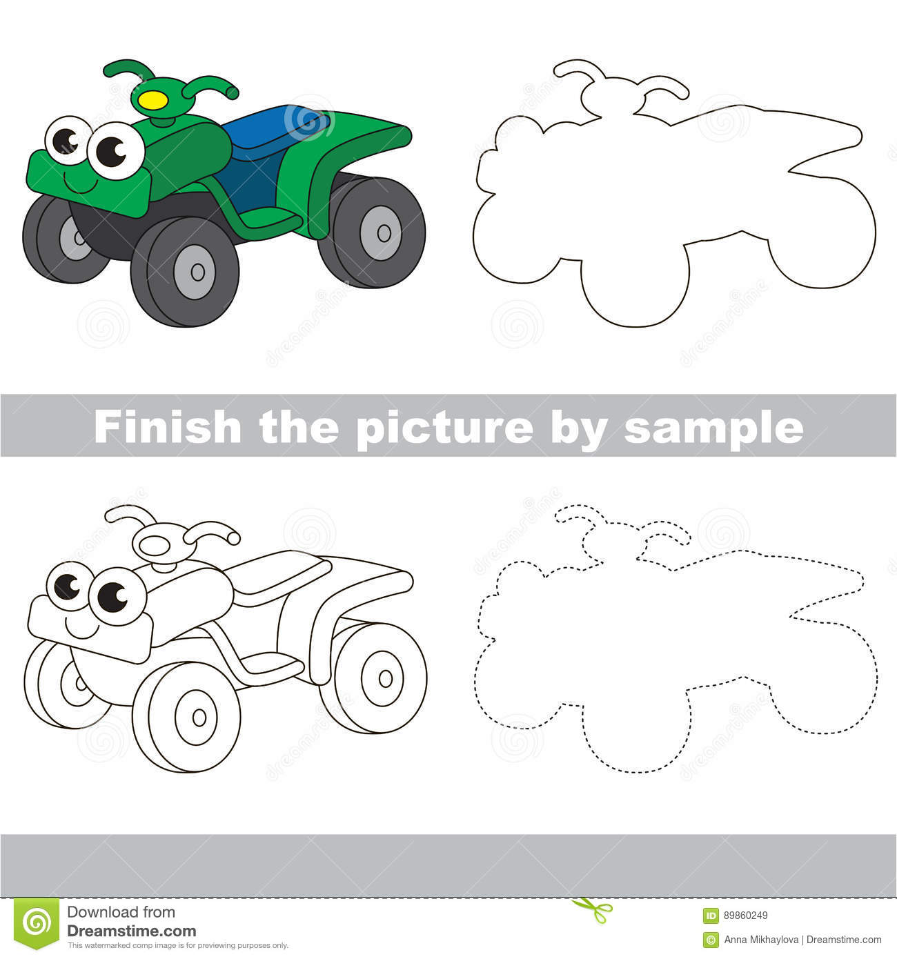 drawing worksheet for toy transport stock vector image 89861176