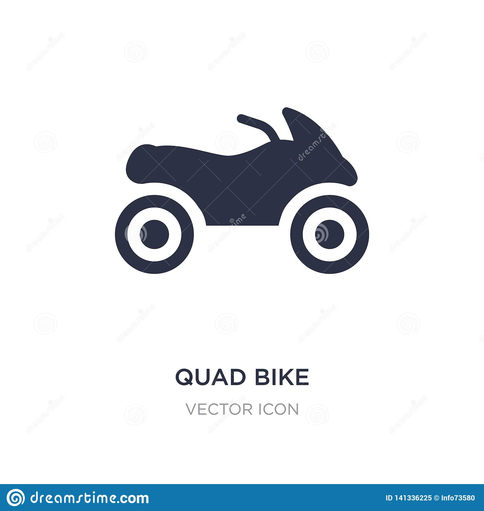 quad bike icon on white background. Simple element illustration from Transport concept